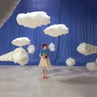 simulation white 3d cotton cloud decoration props wedding store birthday party photography living room diy white clouds decor
