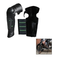 2Pcs Motorcycle Winter Windproof Cold Plus Velvet Warm Knee Pads Slip Resistant Long Waterproof Reflective Strip Protectors Knee