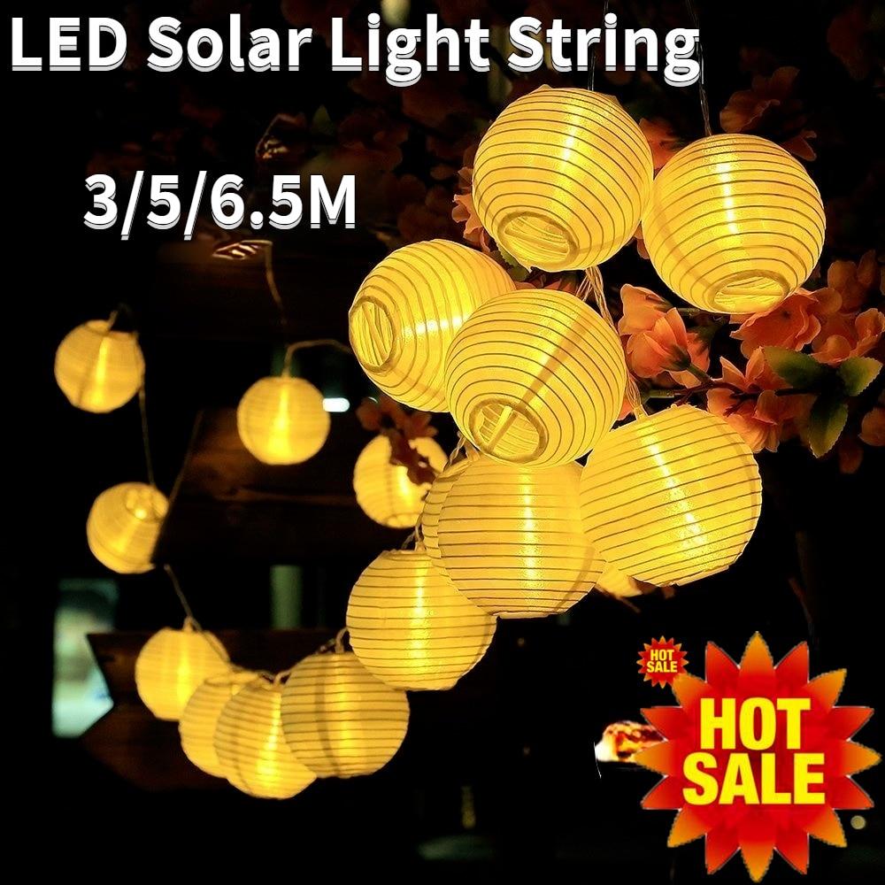 a corda solar conduzida exterior da lampada conduziu a luz de rua da guirlanda conduziu