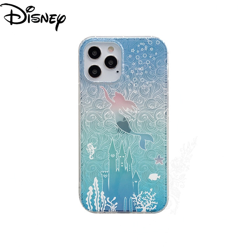 Disney Phone Case for IPhone12/XR/7Plus/11/x/12mini/6s/6p Mermaid Phone Cover Mobile Phone Accessories  - buy with discount