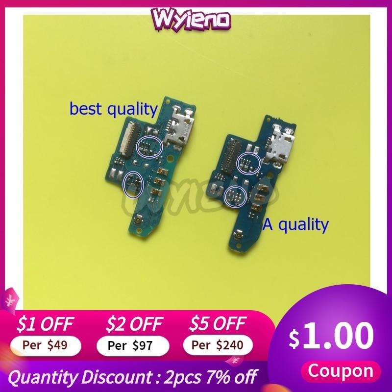 Wyieno para ZTE Blade A602 Placa de puerto de carga USB conector cable flexible de micrófono Mic Plug piezas de repuesto + seguimiento