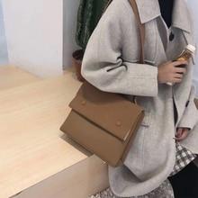Brand Shoulder Bags Casual Women Brown Shoulder Handbags Simple Design Big Crossbody Bags For Women Bags For Women 2019