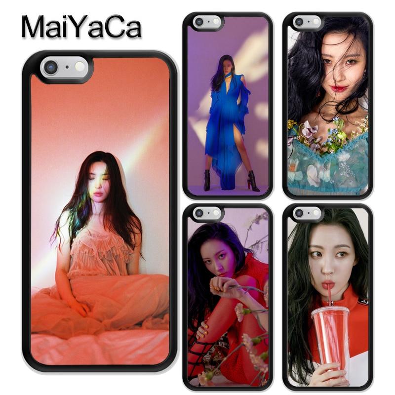 Sunmi Lee Kpop chica caja del teléfono para iPhone XR XS Max X 11 Pro MAX 5S SE 2020 6 7 8 Plus cubierta