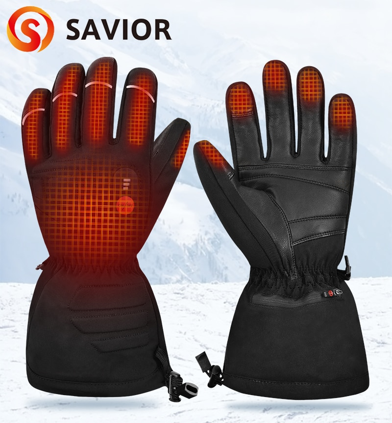 Sunwill Ski Heated Gloves Electric Battery Rechargeable Heating Skiing Gloves Motorcycle Cycling Heated Gloves Men Women Sw08