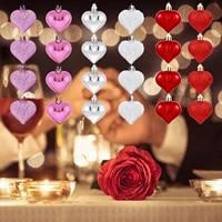 24 pieces 1set Valentine Decor Coeur Ornements Romantique de la Saint-Valentin Cadeaux Maison Deco Fete Danniversaire Deco Mariage Fete Accessoire