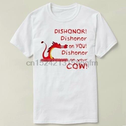 Mulan-deshonor Camiseta de manga corta de algodón mujeres y hombres