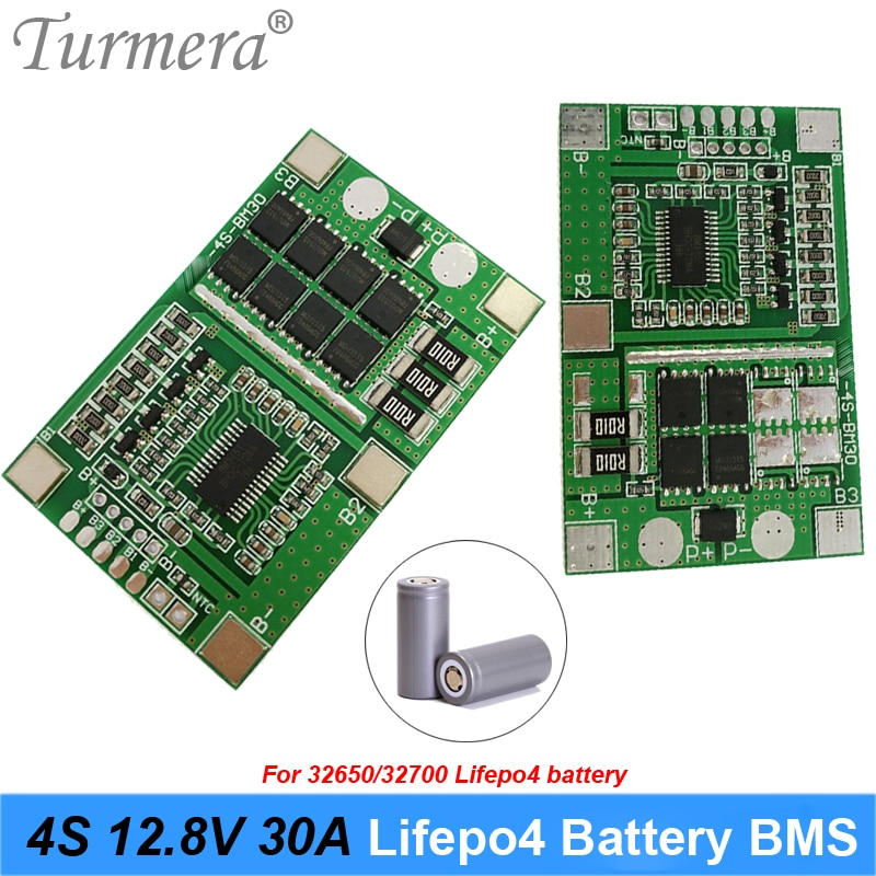 4S 12,8 V 14,4 V 30A 20A 32650 32700 LiFePO4 BMS de fosfato de hierro de litio Placa de protección de batería 12V 12V interrumpido de uso