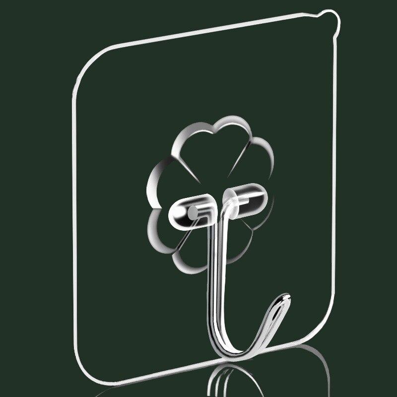 Водонепроницаемые дверные настенные вешалки, прозрачные крепкие самоклеящиеся дверные крючки на присоске для кухни, ванной комнаты, 10/20 шт.