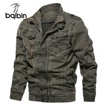 2021 New Military Tactical Jacket Men Fashion Washed Denim Bomber Jackets Coats Army Cargo Jaqueta M
