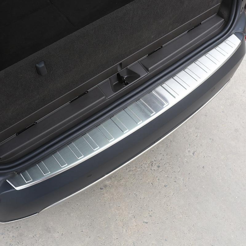 304 acero para Land Rover Discovery 5 2017 LR5 Umbral de puerta trasera exterior Protector de umbral de desgaste placa accesorios de coche