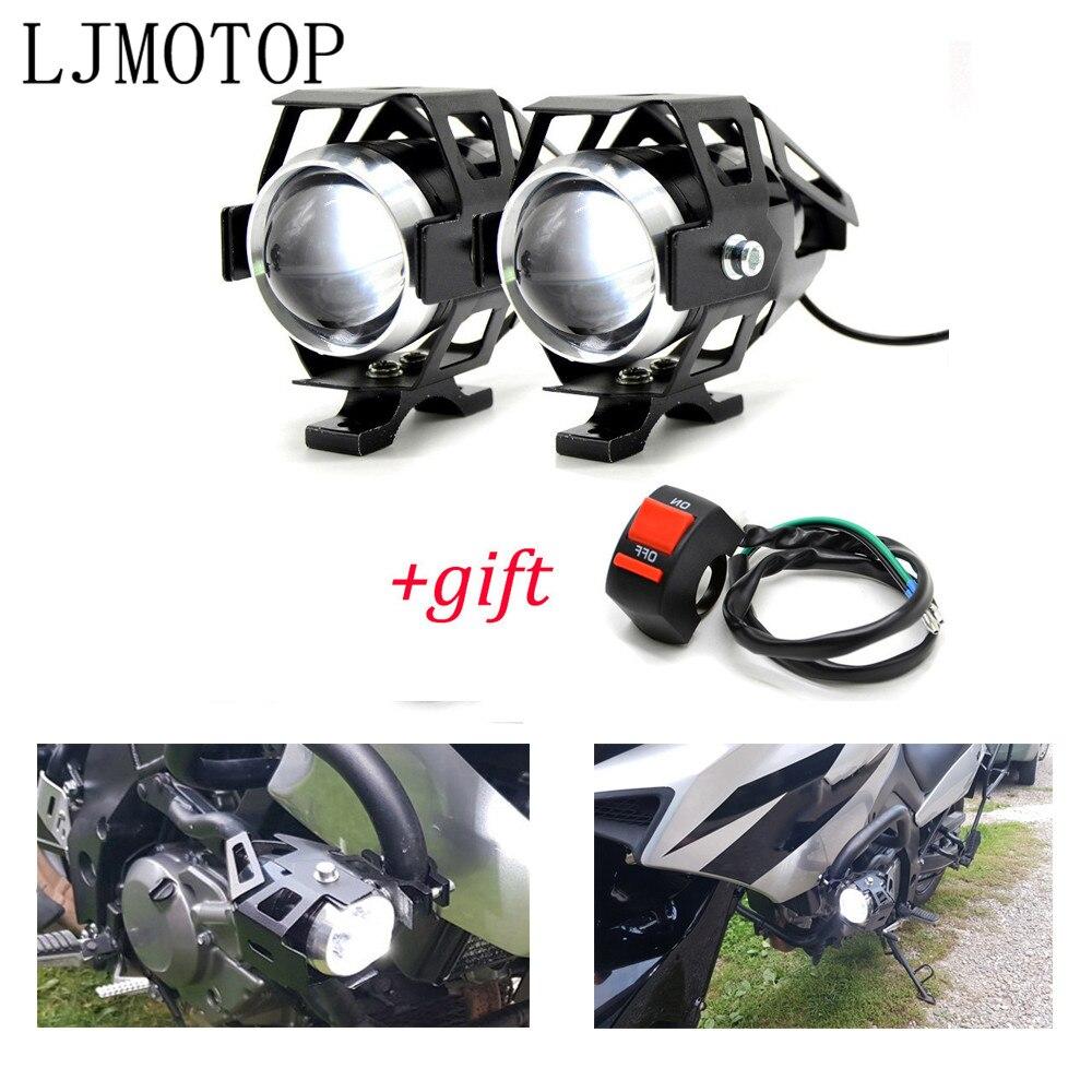 Faros delanteros de motocicleta 12V LED lámpara auxiliar U5 Spotlight motocicleta para Suzuki GSX 1400 650F HAYABUSA GSXR1300 SV TL 1000 DL650