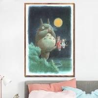 my neighbor totoro ghibli hayao miyazaki classic anime movie hight quality canvas painting hight quality home decor art prints