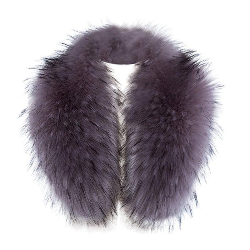Bufanda nueva moda mujer Sexy de Color imitación de piel de imitación Collar falso Collar de peluche chaqueta tapa falso Collar bufanda