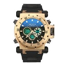 STRYVE 50M Waterproof Sport Mens Watches LED Digital Man Wrist Watch Fashion Electronic Clock 2021 Q