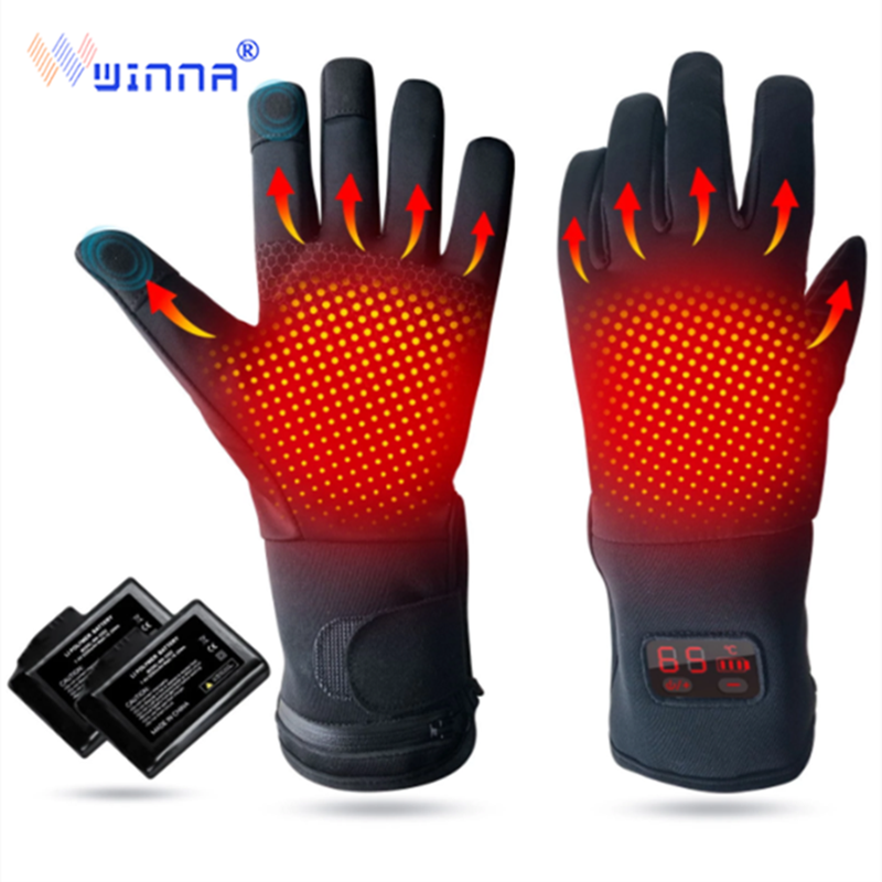 2020 new electric heating gloves winter gloves waterproof windproof gloves men and women motorcycle riding heating to keep warm