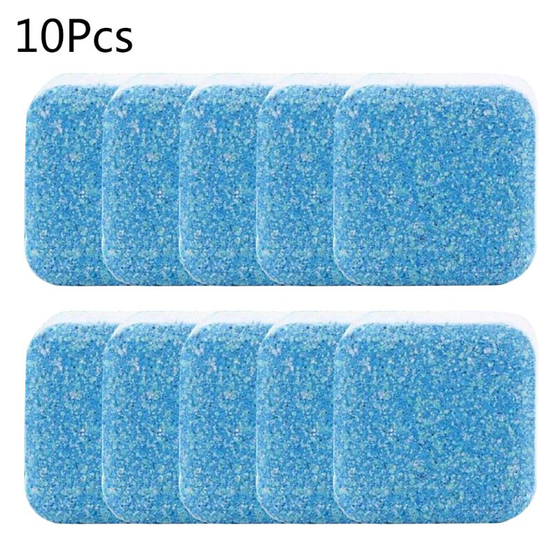 10pcs Useful Washing Machine Descaler Cleaner Deep Cleaning Remover Tablets Deodorant Durable Multifunctional Laundry Supplies