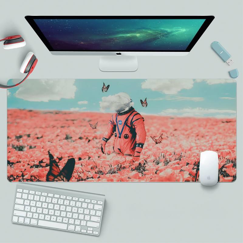 astronaut DIY Design Pattern Game mousepad XL Large Gamer Keyboard PC Desk Mat Takuo Computer Tablet Mouse mat