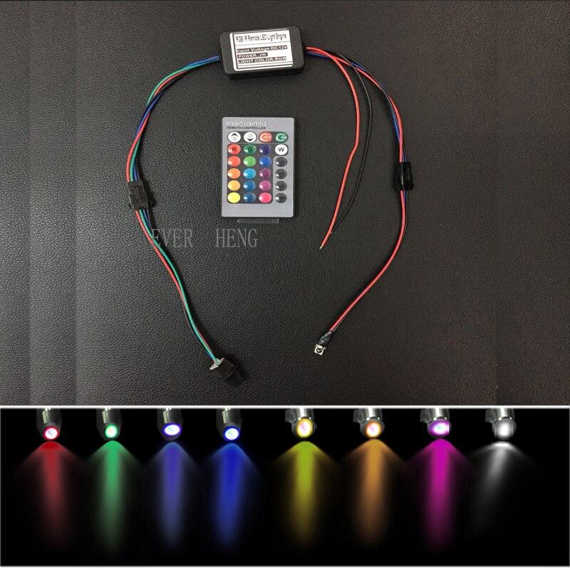 O uso do carro da fibra ótica que ilumina 12v 2w multi colorido conduziu o controle remoto do ir do motor da fonte luminosa