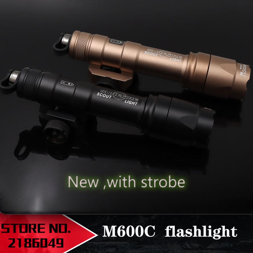 M600 عنصر الادسنس sukbir M600C سلاح كشاف التكتيكي ضوء LED التكتيكية بندقية مصباح يدوي نسخة جديدة إضافة ستروب الصيد