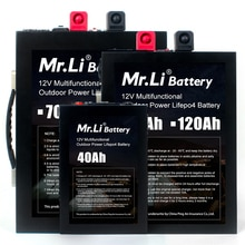 Il sig. Li 12V Lifepo4 Batteria Ricaricabile 12V 70Ah 120Ah Al Litio 12V 40Ah Batteria Build-in BMS Bordo Con Interfaccia USB