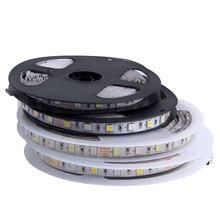 5050 SMD 5M 12V LED bande lumière 12 v étanche LED bande bande lampe RGB RGBW RGBWW jaune rose glace bleu Diode ruban flexible