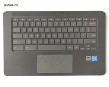 JIANGLUN 노트북 Palmrest 키보드 및 touc가있는 케이스 hp Chromebook 14 G5 L14355-001 용 HP ad