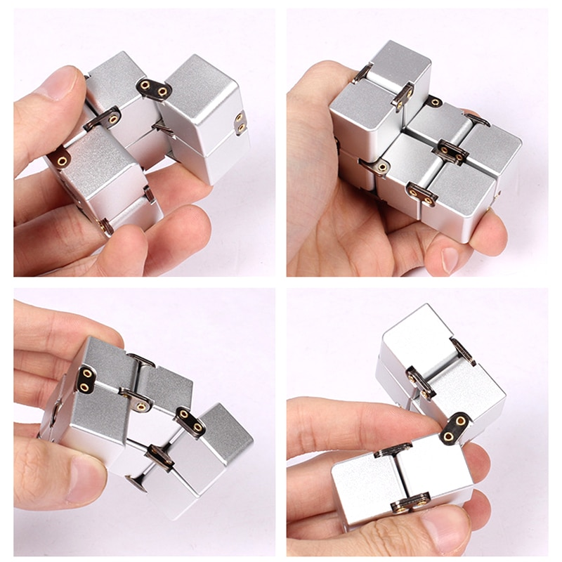 Fidget Infinity Cube Anxiety Stress Relief Fidget Toy Puzzle Cube Finger Plaything Infinite Conversion Blocks enlarge