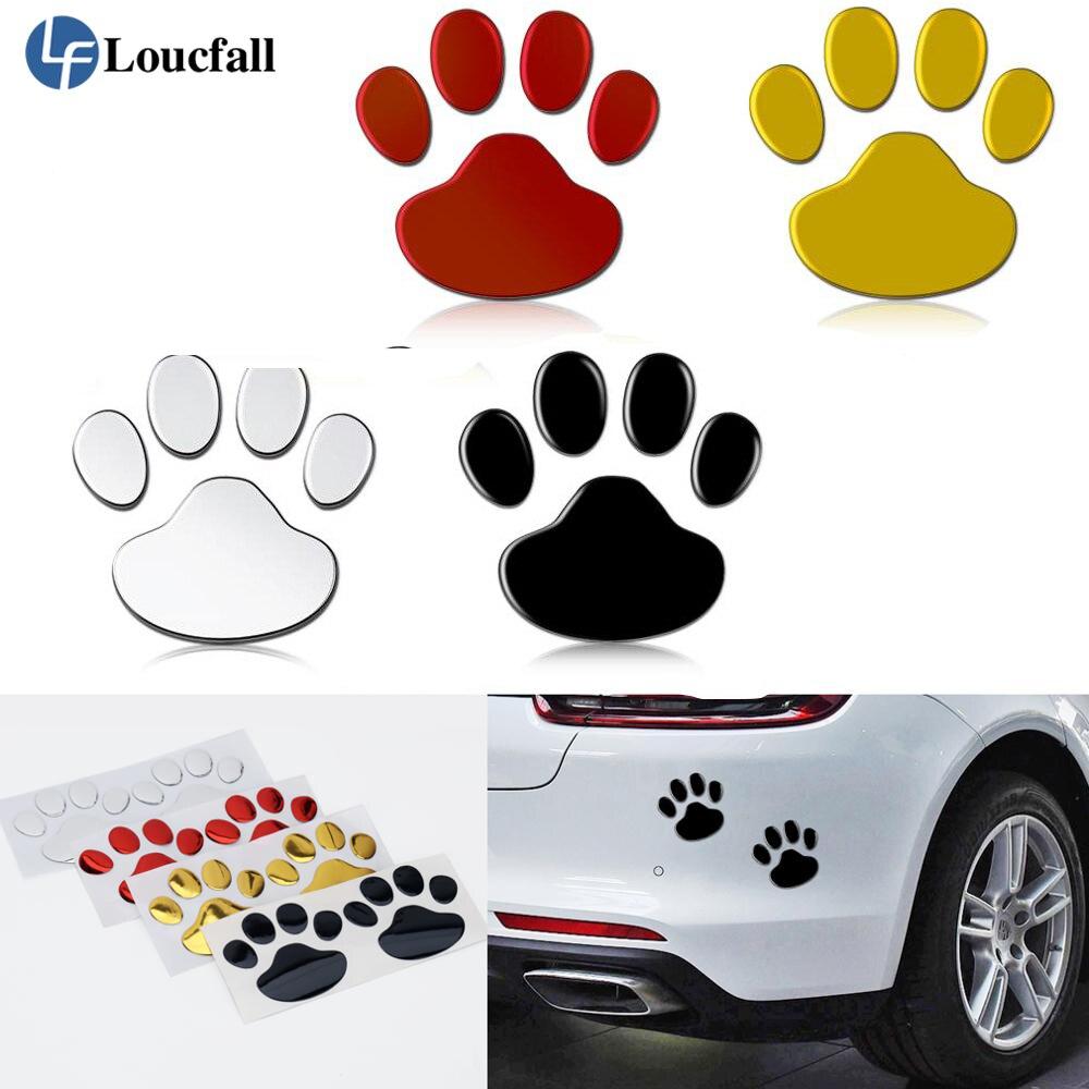 1 пара автомобильных наклеек s и наклеек лапа 3D животное собака Кот медведь нога принты наклейки в виде отпечатка ноги автомобиля стикер сер...