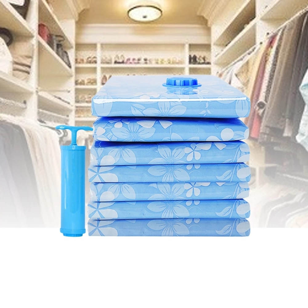 Thickened Storage Vacuum Bag Reusable Cloth Organizer Foldable Compressed sack Clothes Blanket Packing Tools With Hand Pump