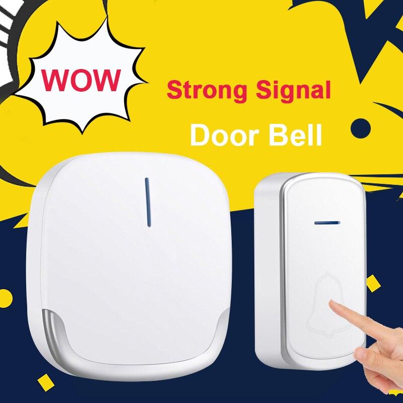 Wireless Doorbell Home Welcome Smart Door bell Long Distance Home Door Chimes SOS Call Button for elder healthcare
