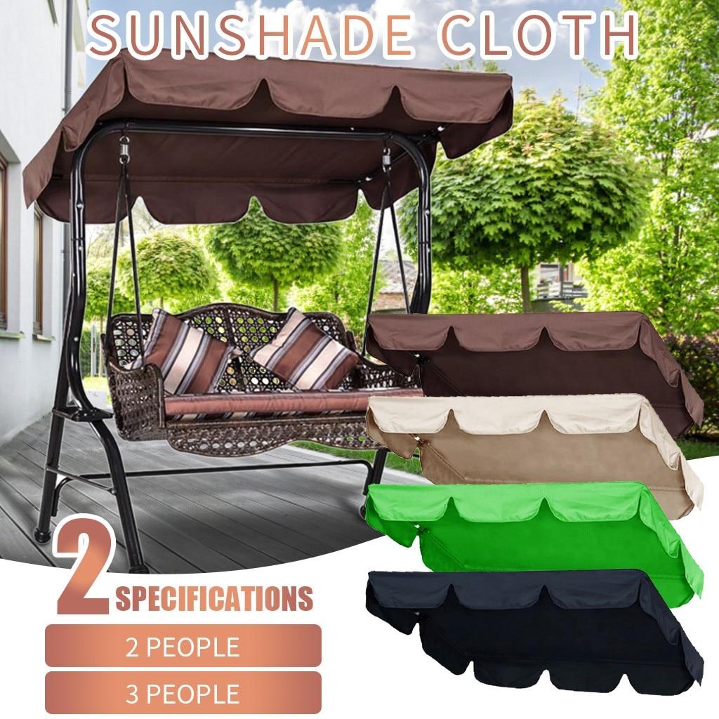 Cubierta doble para Columpio de jardín, Toldo Plegable para exteriores, tela de sombra de 142x120x18cm