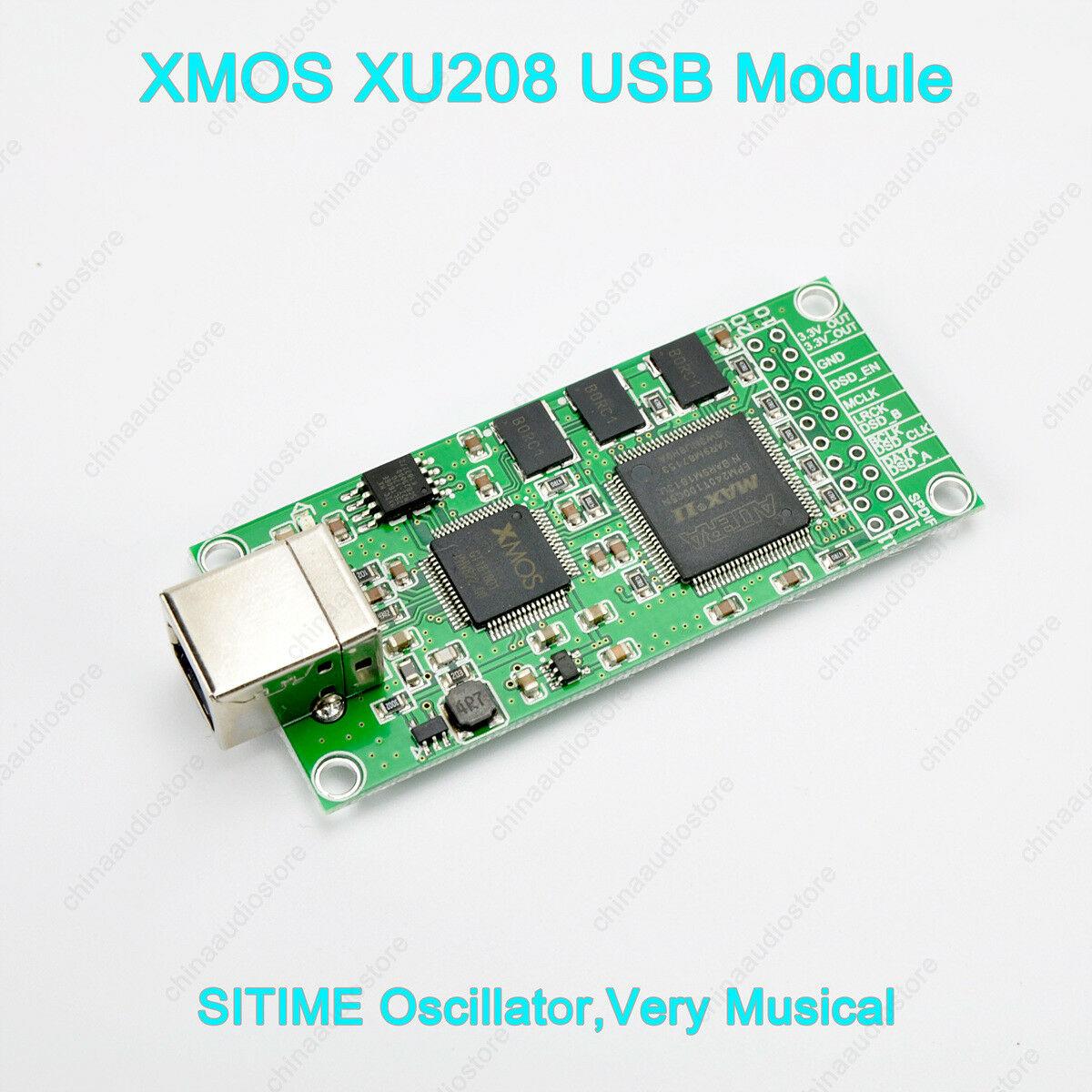 XMOS XU208 Digital USB interfaz USB a I2S para DAC DSD512 EE. UU. SITIME oscilador