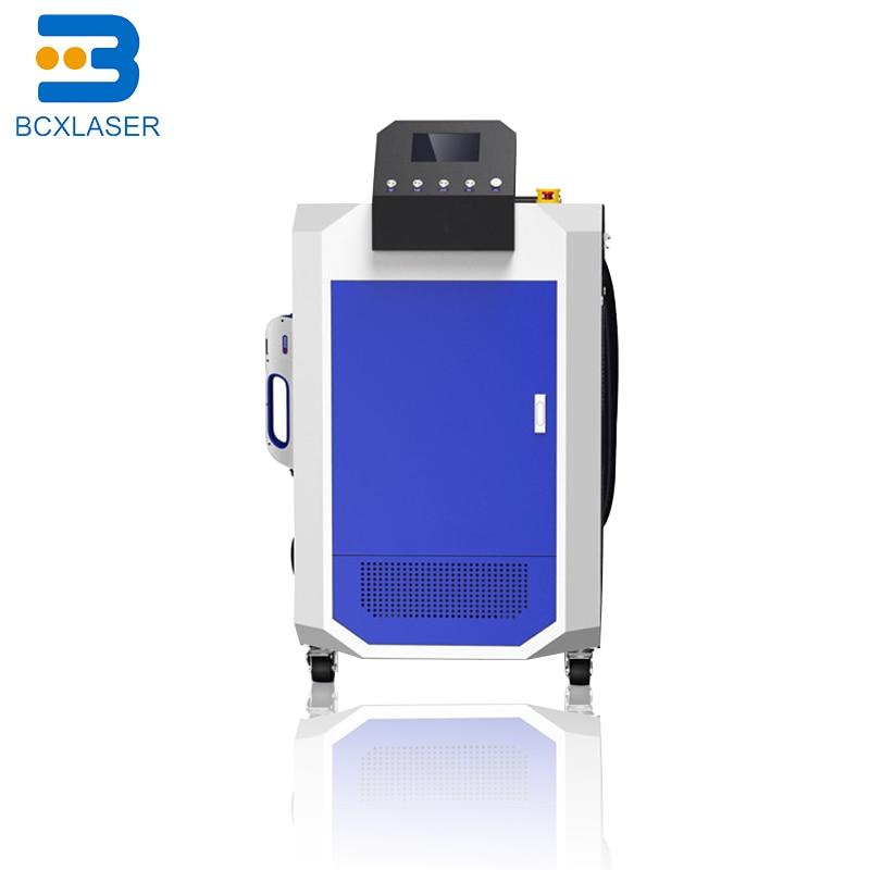 Hohe effizienz 50W 100W rucksack faser laser reinigung maschine für farbe/öl/rost entfernen fabrik preis