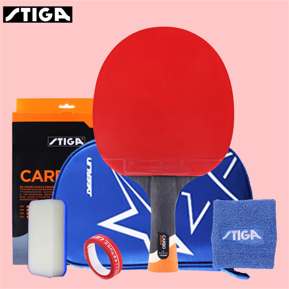 STIGA 6 Star Table Tennis Racket Pro Ping-pong Paddle Pimples In For Offensive Rackets Sport Stiga R