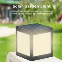 ABS Solar Powered LED Pillar Lamp Waterproof Outdoor Garden Villa Light Waterproof LED Solar Lamps Path Lights 12LED White Warm