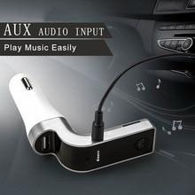 4-in-1 핸즈프리 무선 블루투스 FM 송신기 자동차 액세서리 변조기 LCD 키트 플레이어 SD USB AUX G7 MP3 자동차 F7R5 bmw 용