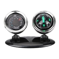 2 in 1 car interior decoration ornaments compass thermometer guide ball dashboard mounting auto truck off road 4x4 accessories