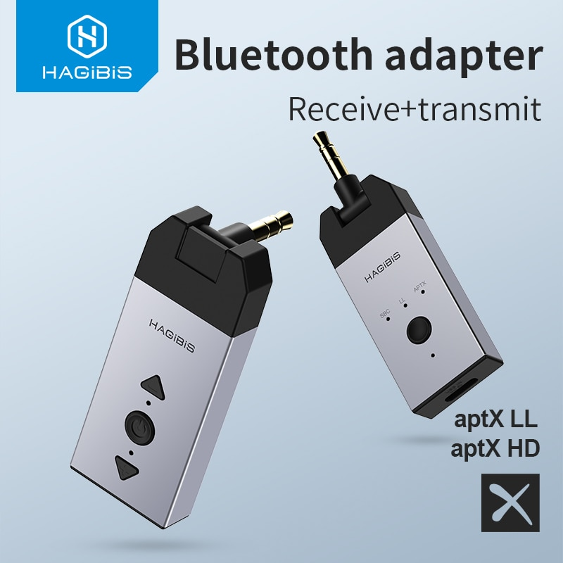 Hagibis بلوتوث 5.0 الصوت استقبال الارسال aptX LL aptX HD 3.5 مللي متر جاك Aux اللاسلكية محول ل سيارة PC سماعة التلفزيون المتكلم
