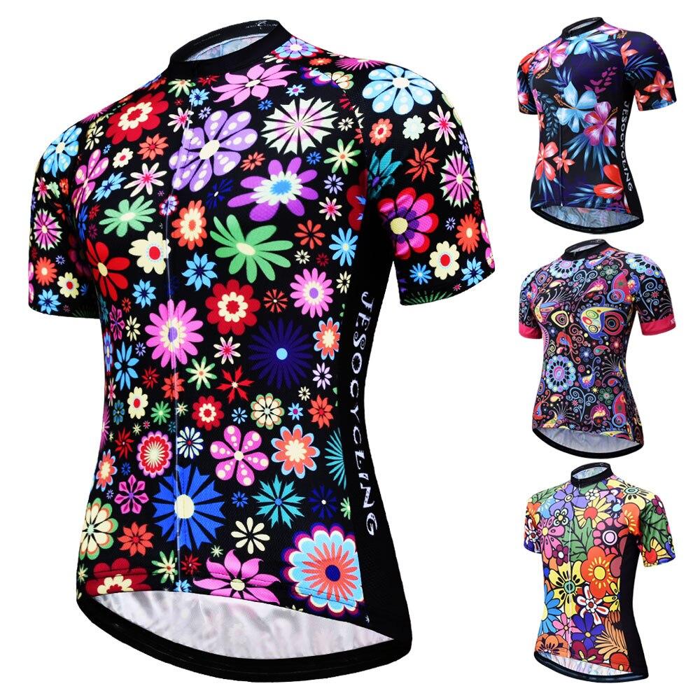 JESOCYCLING, camiseta de Ciclismo para mujer, Top MTB, Ropa de Ciclismo, Ropa de Ciclismo, Ropa de manga corta, Maillot, Ropa de Ciclismo