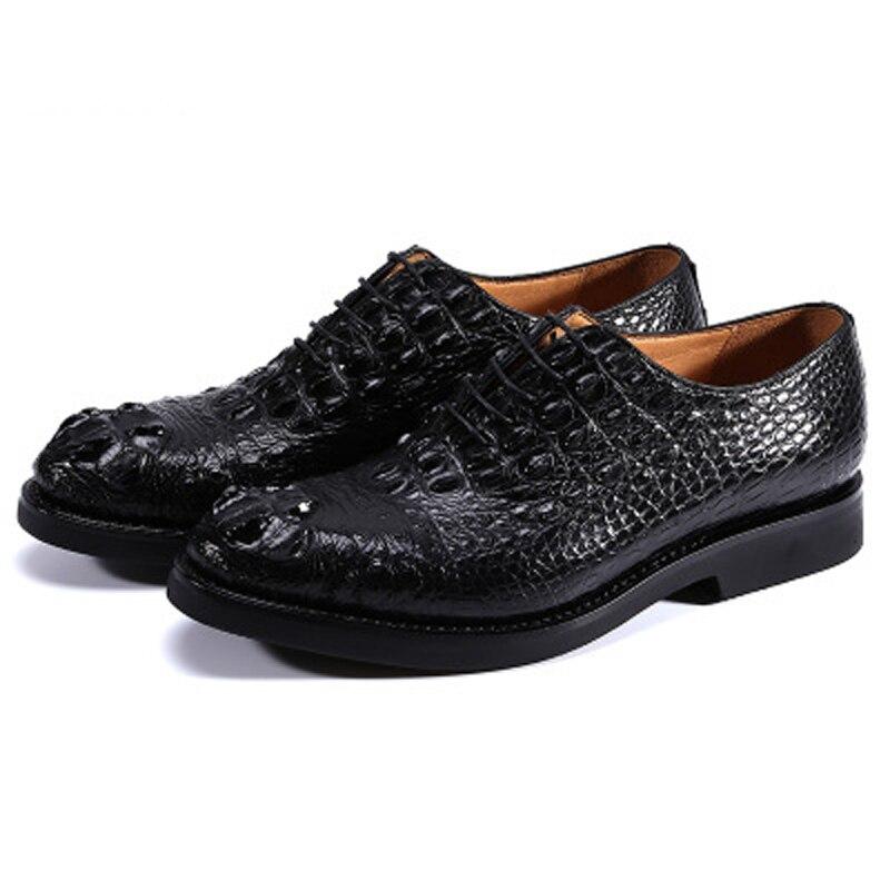 Sapatos de Crocodilo sem Costura Homens de Negócios Sapatos de Couro Jineyu Sapatos Masculinos Vestido Masculino Manual Formais