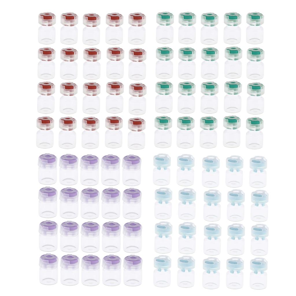 Frascos de vidrio Premium a prueba de fugas de 20 unidades, reactivos de polvo de Serums, contenedor para Hospital, laboratorio, Clínica de belleza, salón de belleza, Hogar-3 ML