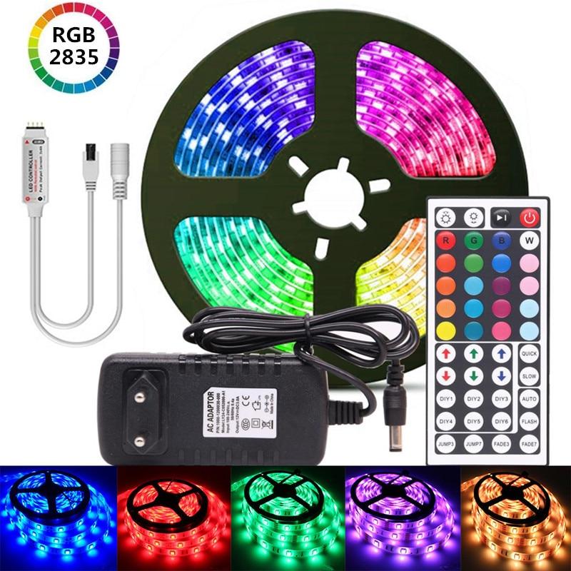 Светодиодный светильник luces RGB, светодиодный светильник, гибкая лента, Диод 2835, светодиодный светильник, декоративные ленты для праздника, 12 ...