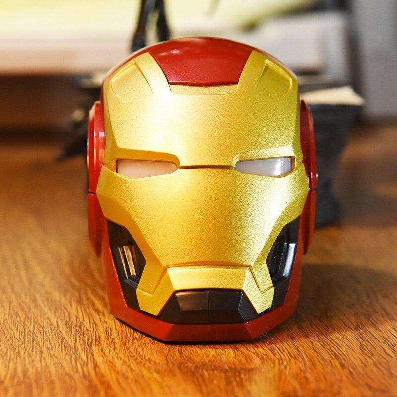 Altavoz Bluetooth inalámbrico Iron Man portátil Subwoofer caricatura Mini Soundbox soporte TF USB altavoz de ordenador
