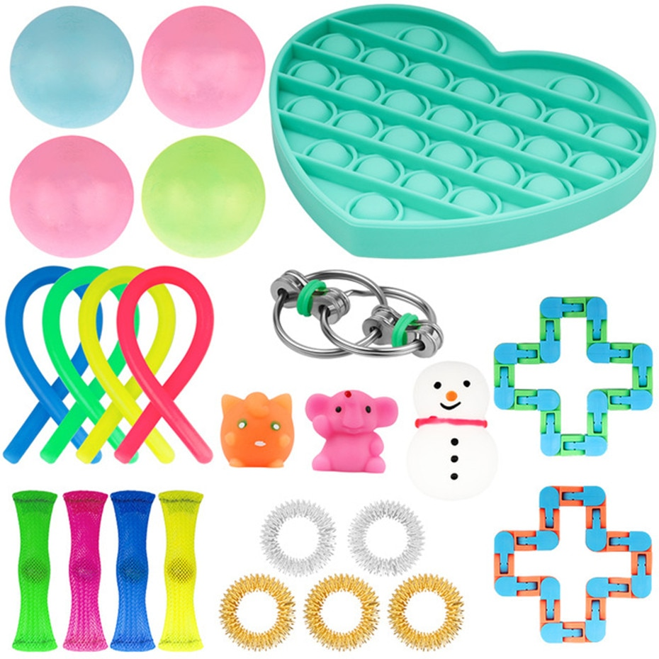 Fidget Sensory Toy Set Stress Relief Toys Autism Special Needs Anxiety Relief Stress Pop Bubble Fidget Toys For Kids Adults enlarge
