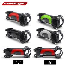 Ullicyc 4 cores liga + 3k carbono 6/17 graus haste mountain bike bicicleta estrada 60-120mm haste frok 28.6mm barra 31.8mm lga01