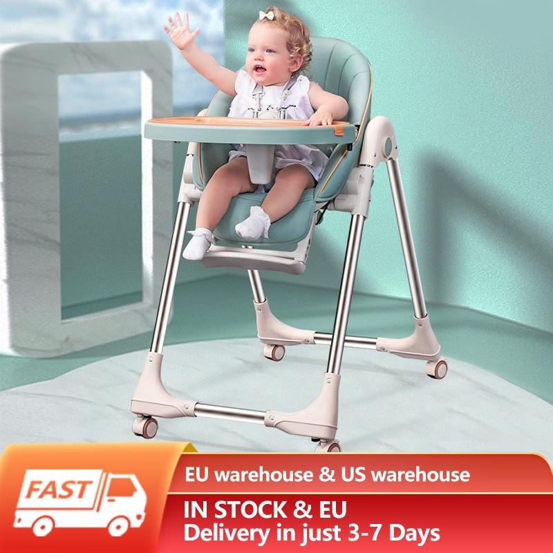 Многофункциональное детское кресло, регулируемое съемное детское обеденное кресло, складной стул для младенцев, подушка из полиуретана с к...