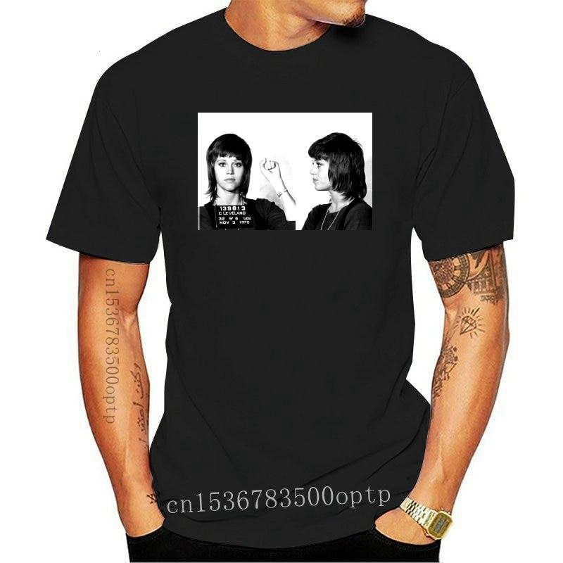 New Men t shirt Short sleeve Jane Fonda Mugshot T Shirt Women t-shirt tee tops