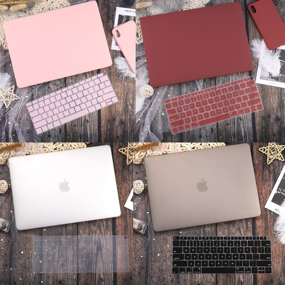 Matte Hard Case For MacBook New Air 13 2019 A1932 Retina 13 15 Pro 13.3