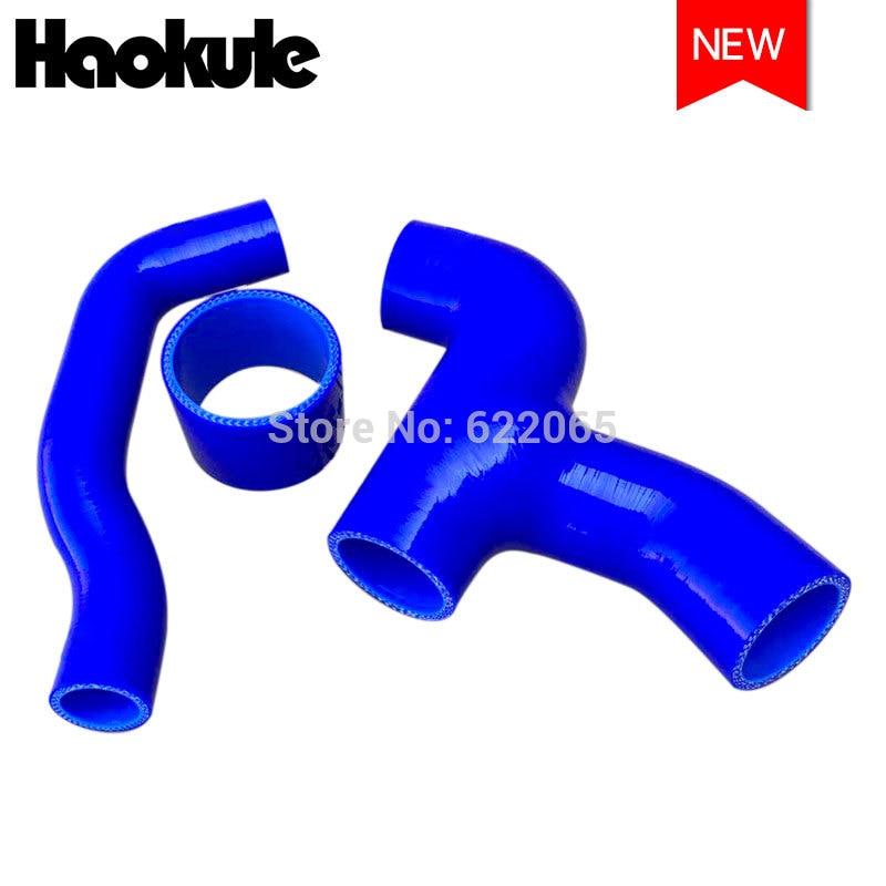 Desempenho de silicone turbo intercooler mangueira kits y-tubo para subaru impreza wrx sti gdb 96-06 (1 peças) azul