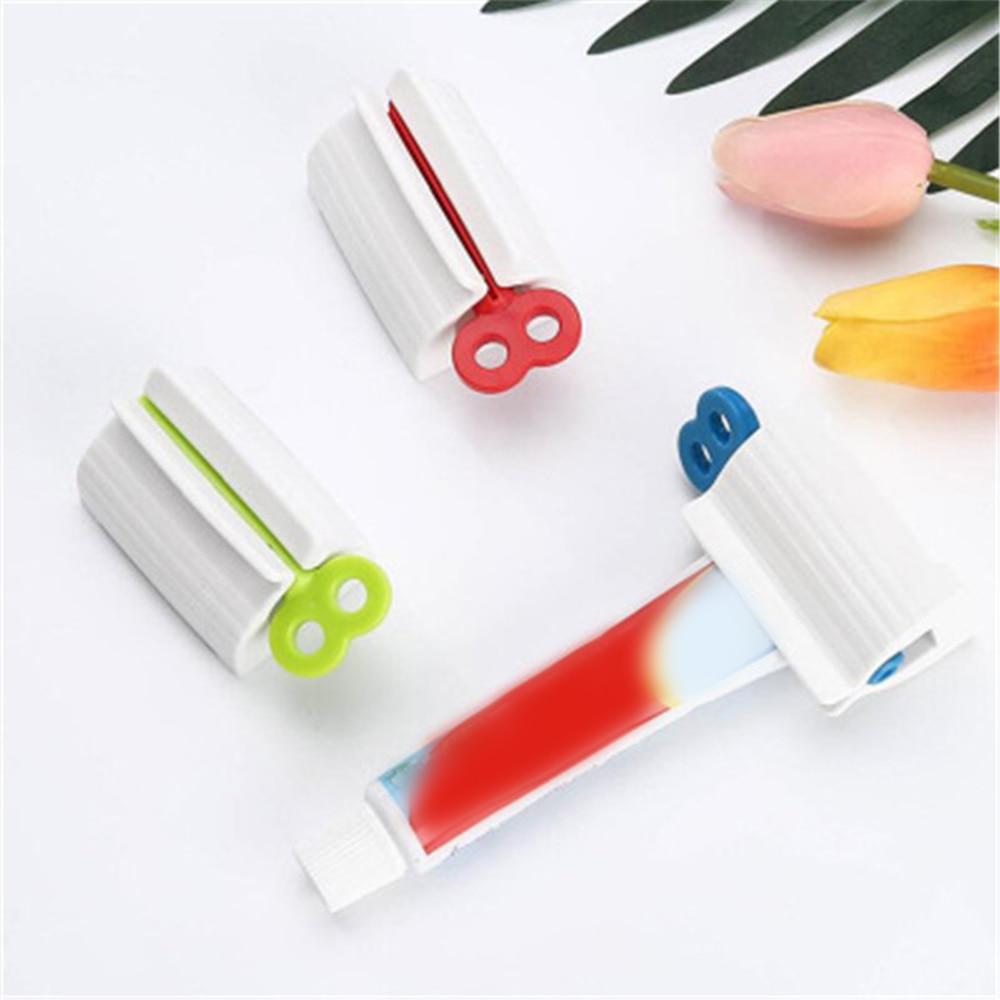 Toothpaste Dispenser Tube Squeezer Dust-proof Toothbrush Holder Wall Mount Storage Rack Bathroom Accessories Set Squeezers
